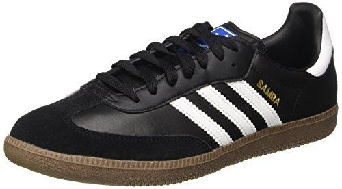 adidas Samba - Scarpe da Ginnastica Basse Unisex - Adulto, Nero (Black/ Running White), 38