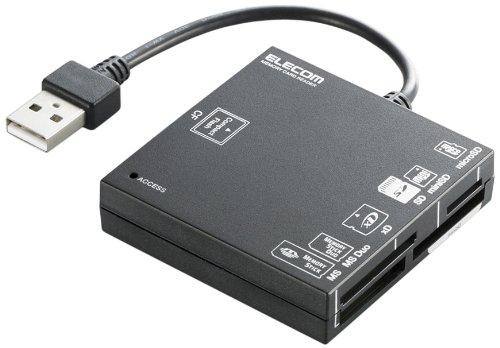 ELECOM modelsconstructed USB2.0 compatible XD SD MS CF black MR-A004BK