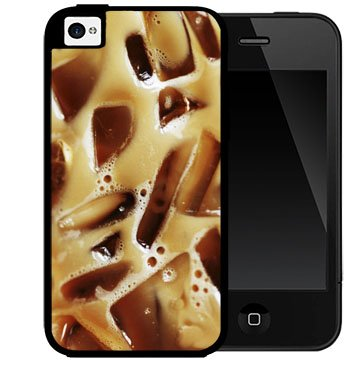 Iced Coffee Drink Caffeine 2-Piece Dual Layer High Impact Black Silicone Cell Phone Case Cover Iphone I5 5S