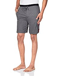 Chromozome Men's Cotton Shorts (S-5428 Charcoal with blk M)