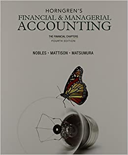 Horngren's Financial & Managerial Accounting, 6th Edition