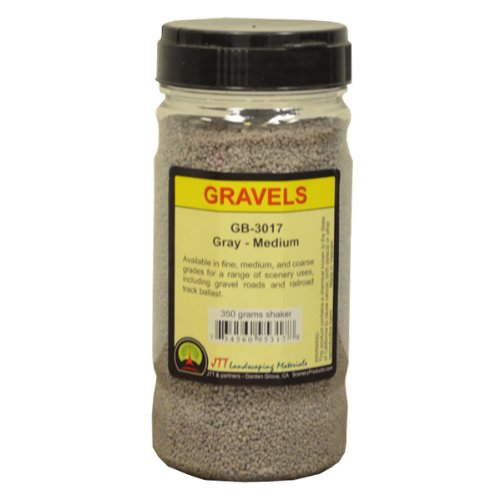 JTT Scenery Products Ballast and Gravel, Gray, Medium