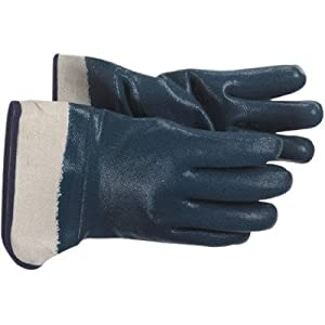 Jersey Lined Nitrile Coated Gloves - heavy weight blue nitrile glove jersey lined [Set of 12]