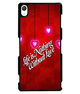 Printvisa 2D Printed Love Quote Designer back case cover for Sony Xperia Z3 - D4355