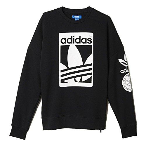 adidas originals street graphic crew grey sweatshirt