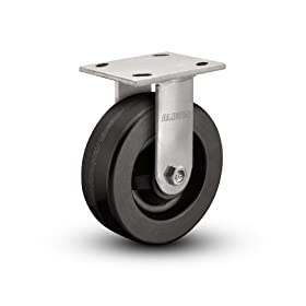 "Albion 16 Series 3"" Diameter Phenolic Wheel Medium Heavy Duty Zinc Plate Rigid Caster, Roller Bearing, 4-1/2"" Length X 4"" Width at Sears.com"