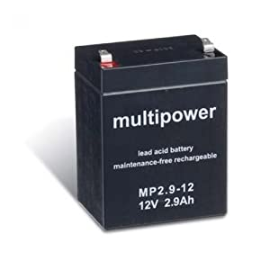 MULTIPOWER MP 12V 26Ah Blei-Vlies-Akku (Glasfaservlies) AGM