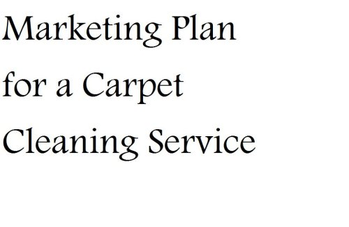 Marketing Plan for a Carpet Cleaning Service (Fill-in-the-Blank Marketing Plan for a Carpet Cleaning Service)