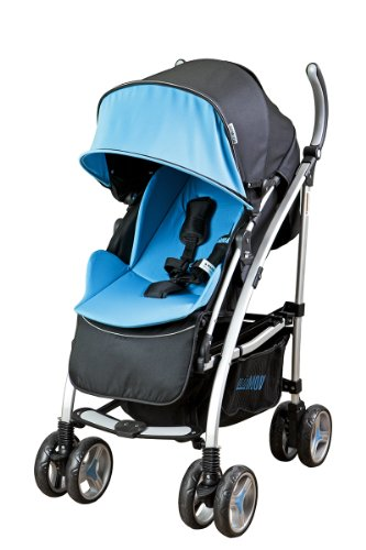Mia Moda Dream On Me Adriana Reversible Seat Stroller, Blue