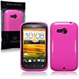 HTC Desire C TPU Gel Skin Case / Cover - Solid Hot Pinkby TERRAPIN