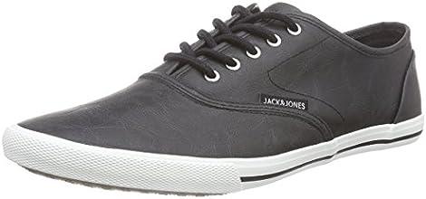 JACK & JONES  JJSPIDER BASIC PU SNEAKER BLACK, Sneakers basses hommes - Noir - Noir, Taille 43 EU