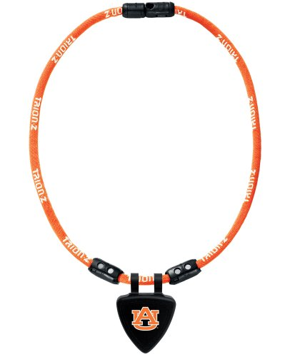 NCAA Auburn Tigers Necklace, White, Medium