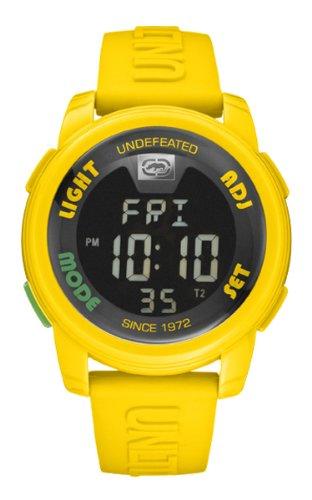 Marc Ecko E07503G7 - Reloj digital de cuarzo unisex con correa de silicona, color amarillo