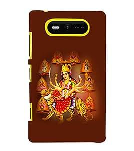 printtech Shera Wali Mata Goddess Back Case Cover for Nokia Lumia 820::Microsoft Lumia 820