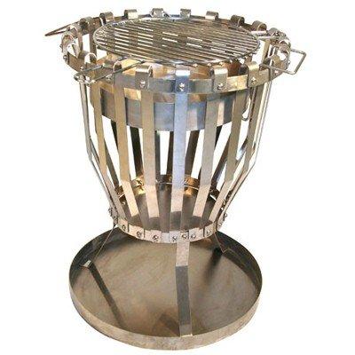 Feuerkorb mit Untersetzer und Grilleinsatz Feuerschale Feuerstelle #521 jetzt kaufen