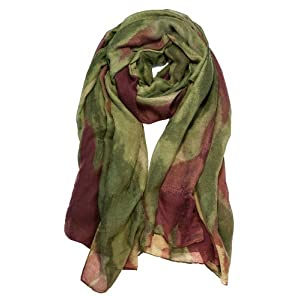 Garcia Artwear Wetlands I Wrap Jerry Garcia Scarf Green