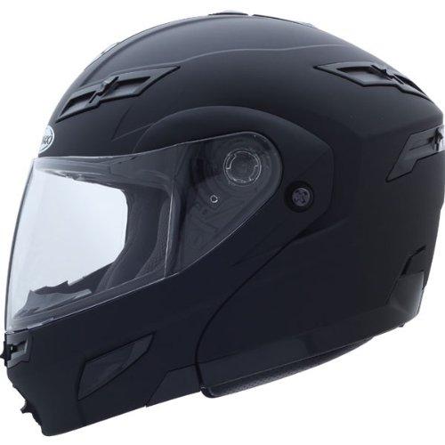 Gmax Gm54S Modular Men'S On-Road Motorcycle Helmet - Flat Black / Large