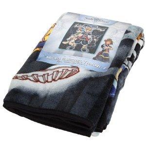 buy cheap kingdom hearts fleece blanket black 48 60 on sale blankets throws. Black Bedroom Furniture Sets. Home Design Ideas