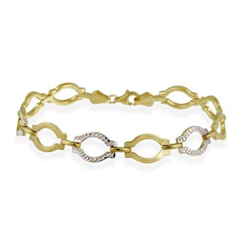10-k-two-tone-gold-braccialetto-con-maglie-a-cerchio