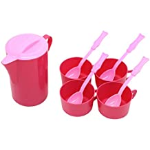 Coffee & Tea Childrens Pretend Play Serving Set By Little Treasures 10 Pc Teatime Table Set With Pitcher Cups...