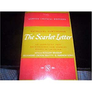 The Scarlet Letter: An Annotated Text, Backgrounds and Sources (Essays in Criticism, Norton Critical Editions) Sculley Bradley, Richmond Crom Beatty and E Hudson Long