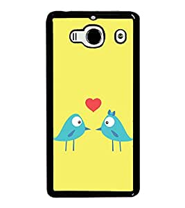 Love Birds 2D Hard Polycarbonate Designer Back Case Cover for Xiaomi Redmi 2S :: Xiaomi Redmi 2 Prime :: Xiaomi Redmi 2