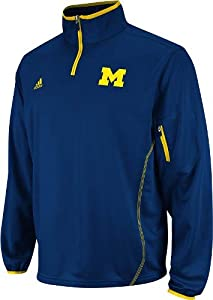 Michigan Wolverines Navy adidas 2012 Football Sideline 1 4 Zip Jacket by adidas