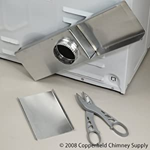 Chimney 89634 0 18 Close Clearance Dryer Vent Periscope
