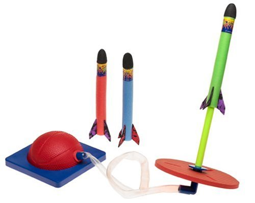 Kids Even Get Some Exer/Cise, Too, Every Time They Jump On The Pump - Geospace Jump Rocket - Launcher and 3 Rocket Set