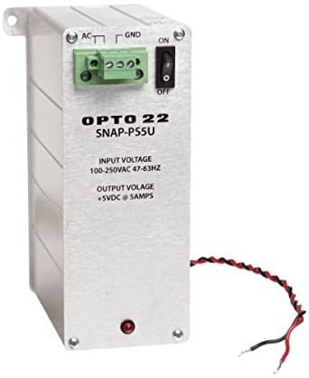 Opto 22 SNAP-PS5U - SNAP Power Supply, 100-250 VAC Input, 5 VDC, 5 A Output