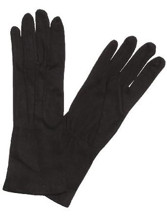 Extra-Long Cotton Gloves - Black or White (Men's Med, Black)
