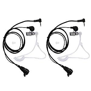 abcGoodefg® 1 Pin Covert Acoustic Tube Earpiece Headset for Motorola COBRA Talkabout Walkie Talkie Two Way Radio 1pin (2Pack)