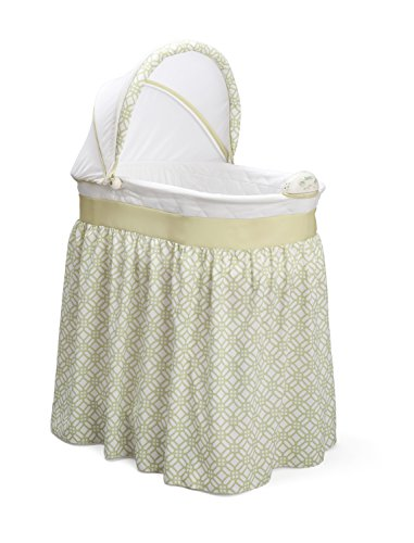 Delta Children Sweet Beginnings Bassinet, Tonal Green