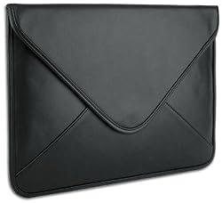 Mygift Black Generic Leather Laptop Sleeve Envelop Case Designed For Apple Macbook Air 13 Inch / Samsung Series 9 Notebook