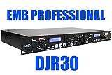 EMB Professional DJR30 1U DUAL USB/SD Digital Player & Recorder Rack Mount For Home / DJ Performance / Club / Bar / Pub / Studio / Stage / Show / Entertainment
