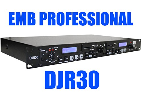 Big Save! EMB Professional DJR30 1U DUAL USB/SD Digital Player & Recorder Rack Mount For Home / ...