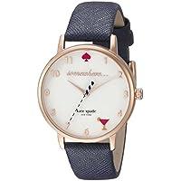 Kate Spade Metro 5 O'Clock White Dial Navy Leather Ladies Watch