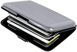Unique Gadget Big Size Aluminum Wallet Card Holder With Mirror Aluma(Any one color  is shipped)