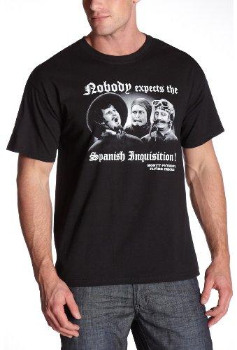 Balzout Men's Monty Pyton Spanish Inquisition T-Shirt,Black,X-Large