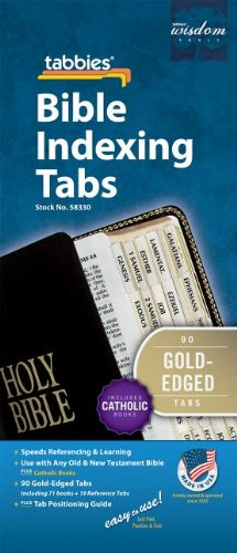 Bible Tab: Clear Tab with Gold Edge Strip & Black Lettering