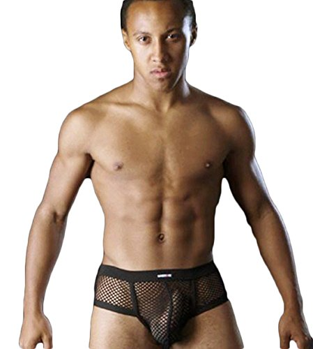 Gay Fishnet Sexy Men's Mini Boxer Shorts