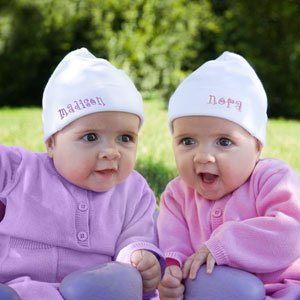 Personalized Baby Twins And Triplets Hats - Set Of 2 front-1015871