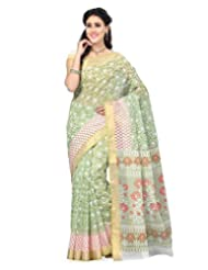 Multi Color Cotton Blend Printed Saree
