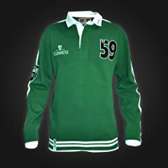 GUINNESS GREEN TRADITIONAL RUGBY JERSEY