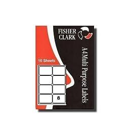 Etiquettes Adresses Imprimante Pk10 A4 8 par feuille Compatible Avery L7165