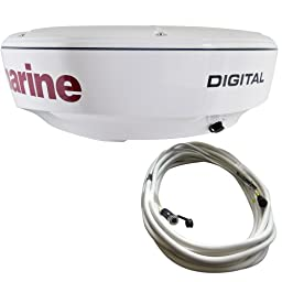 Raymarine RD418D 4kW Digital Radome with 10M Raynet Cable, 18-Inch
