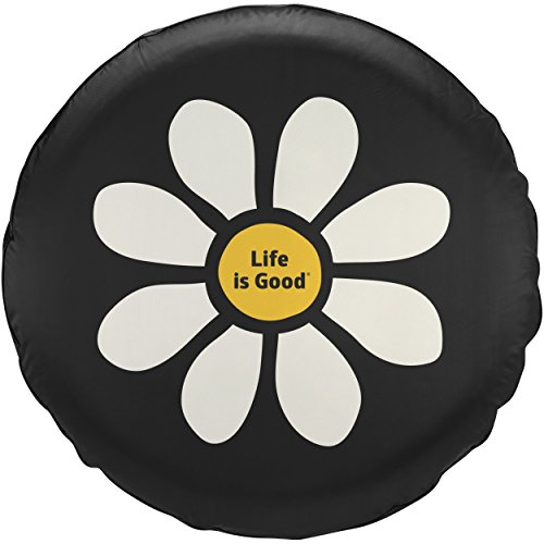 Life is good New Daisy Lig Tire Cover, Night Black, 29