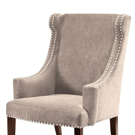 Marcel High Back Wing Chair Taupe See below
