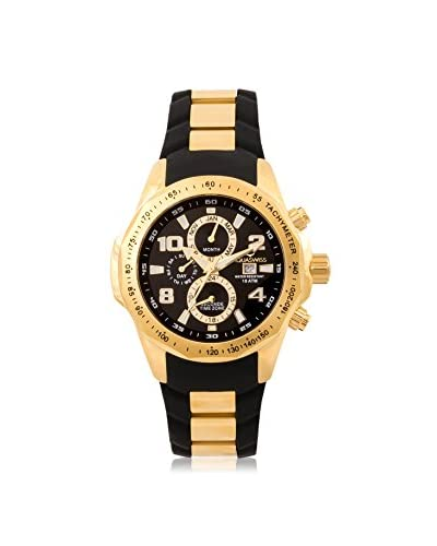 Aquaswiss Men's TR802005 Trax II Gold-Tone/Black Silicone Watch