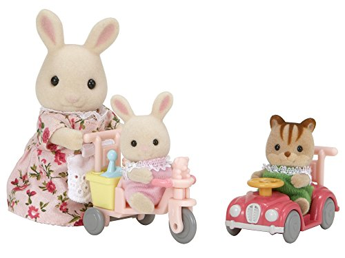 Sylvanian Families - 3567, Set bebè su Auto e Triciclo